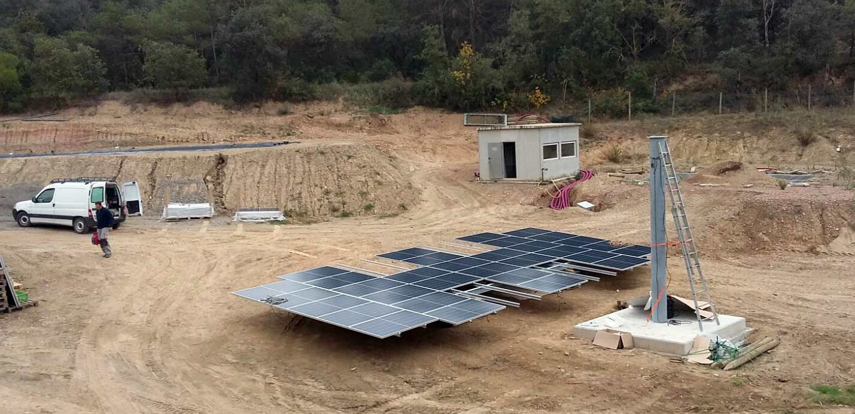 Montaje seguidor solar LIFE REWIND