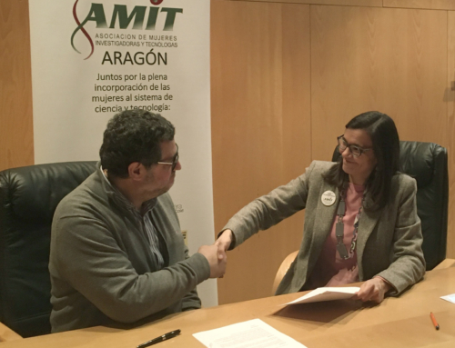 """Intergia signs agreement with the Association of Women Researchers and Technologists (AMIT) of Aragon, and joins the initiative """"An engineer girl in every school"""""""